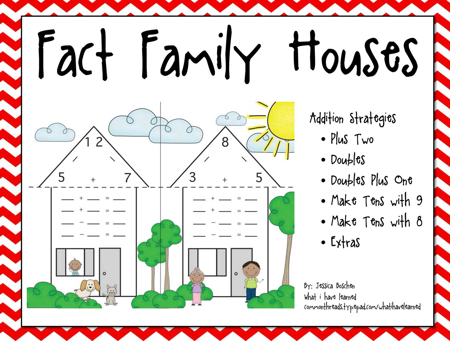 worksheet Fact Family fact family houses cover